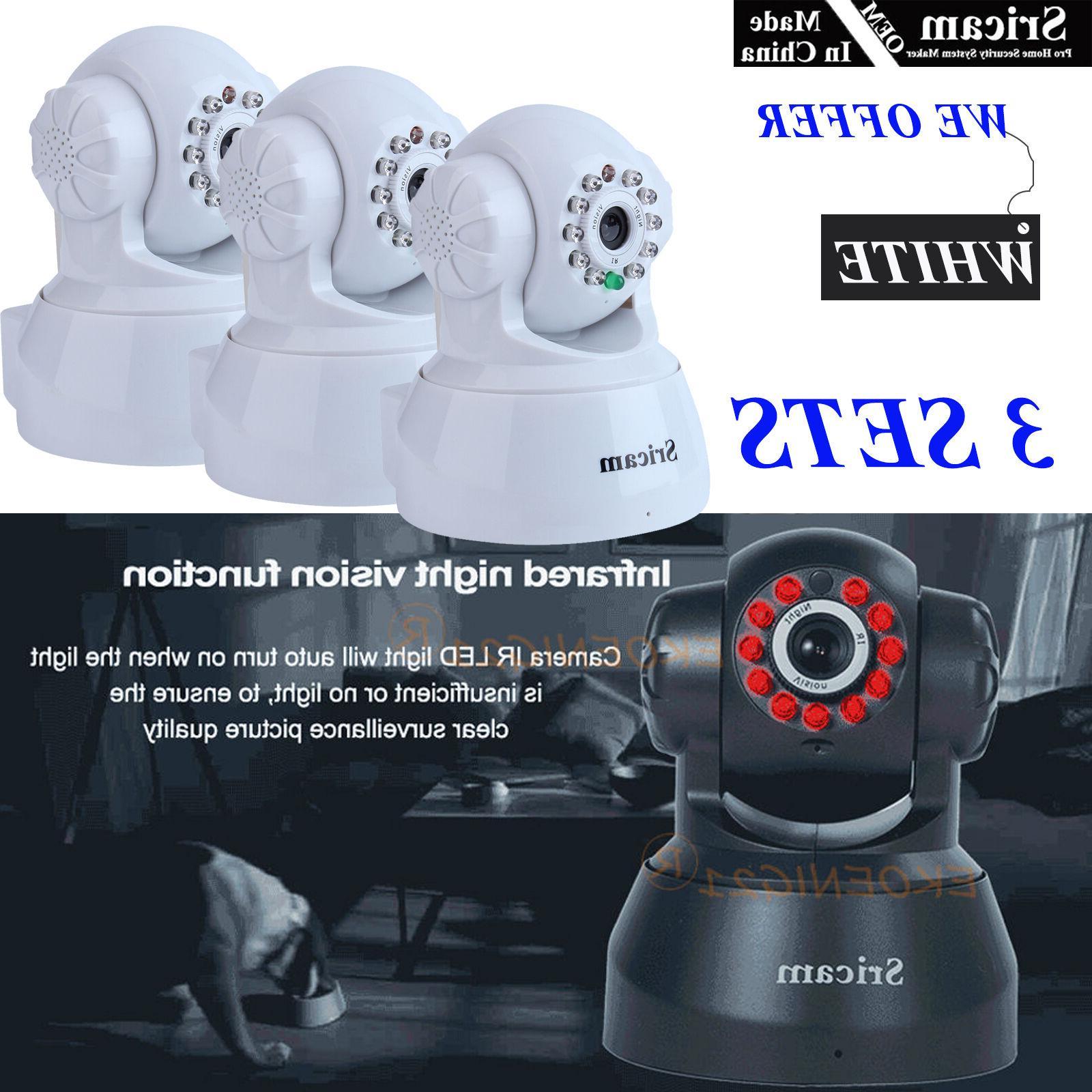 3 Set of OEM Sricam 720P Wireless IP Camera WiFi Security Ni