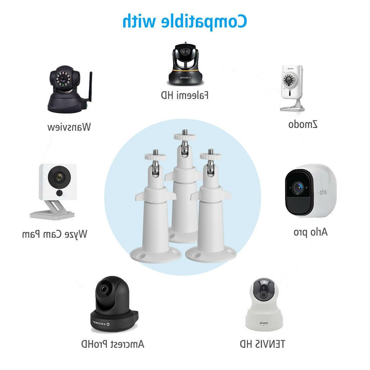 3pcs for Arlo Camera Adjustable Indoor Outdoor Bracket