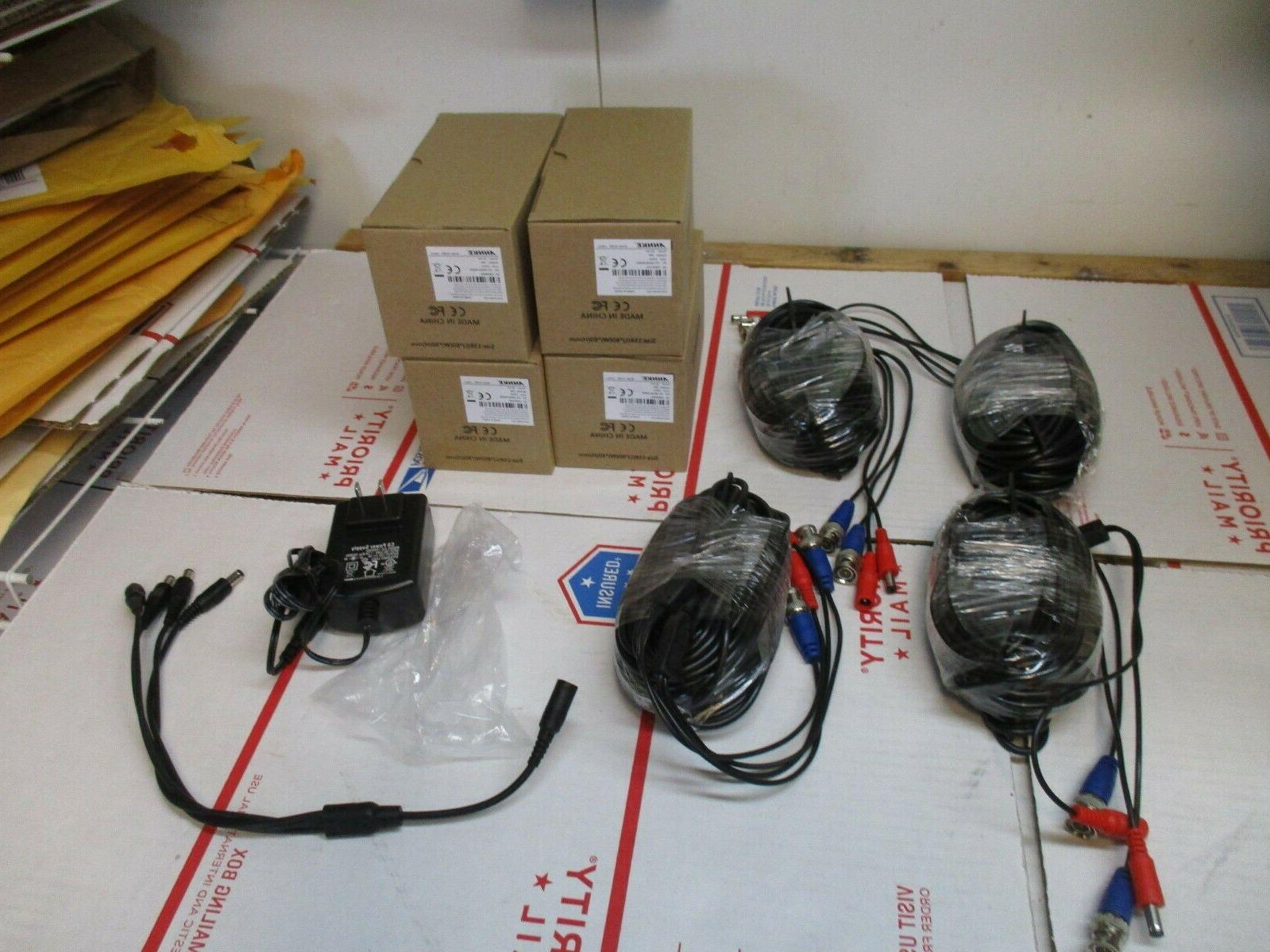 4 home security cameras dc12v with wire