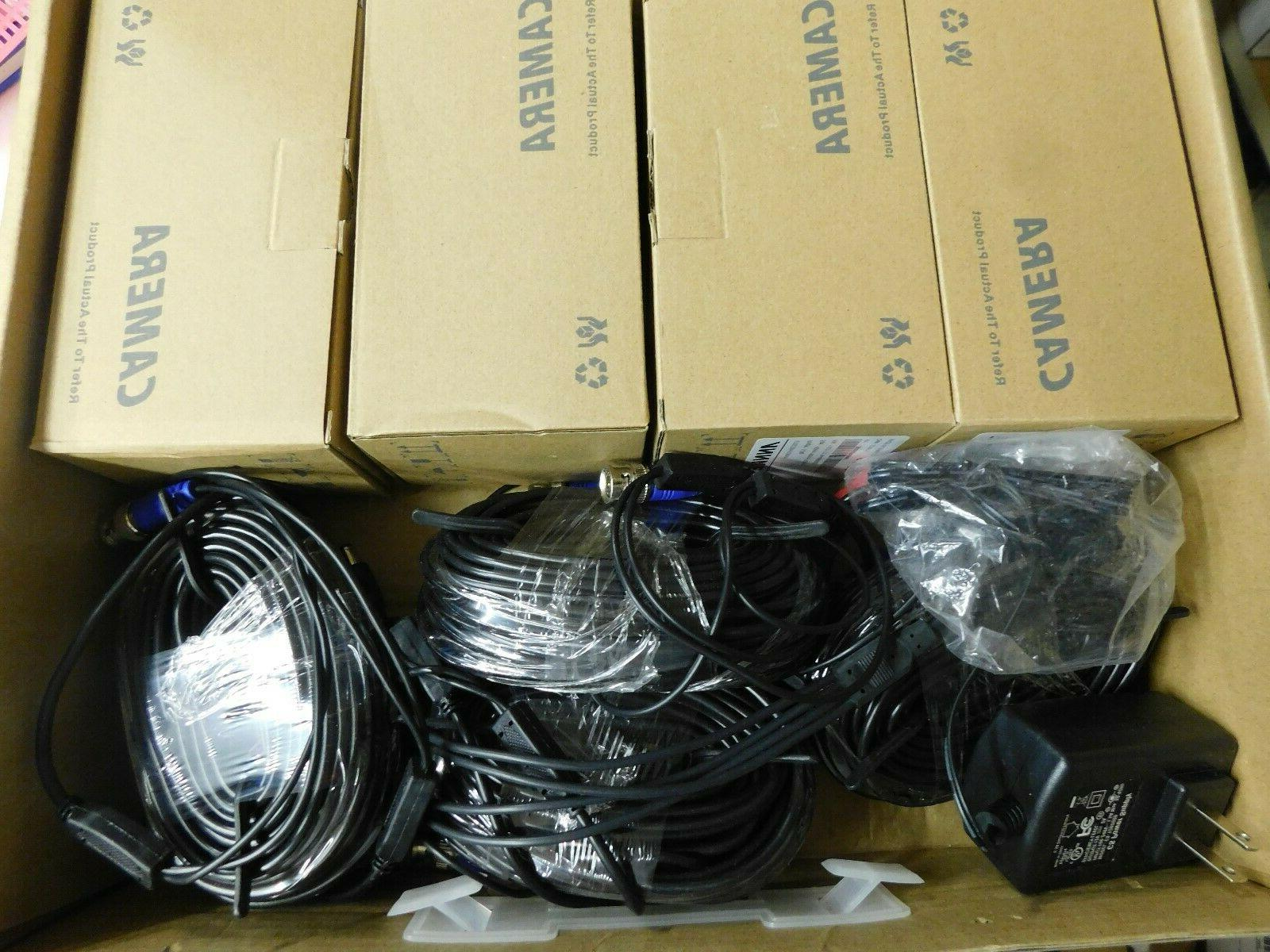 4 model c11dn security cameras with wire