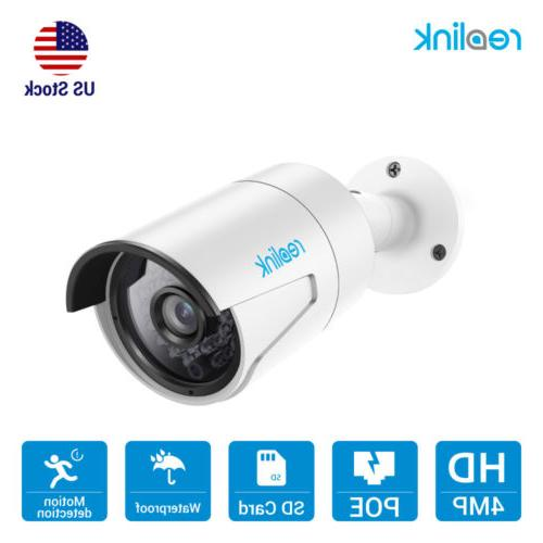 4MP PoE Security Camera with Audio & 16GB SD Card Outdoor IP