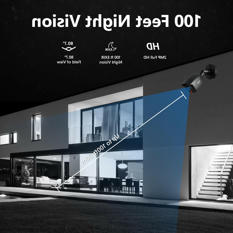 SANNCE System 16CH 1080P Cameras Night Kit