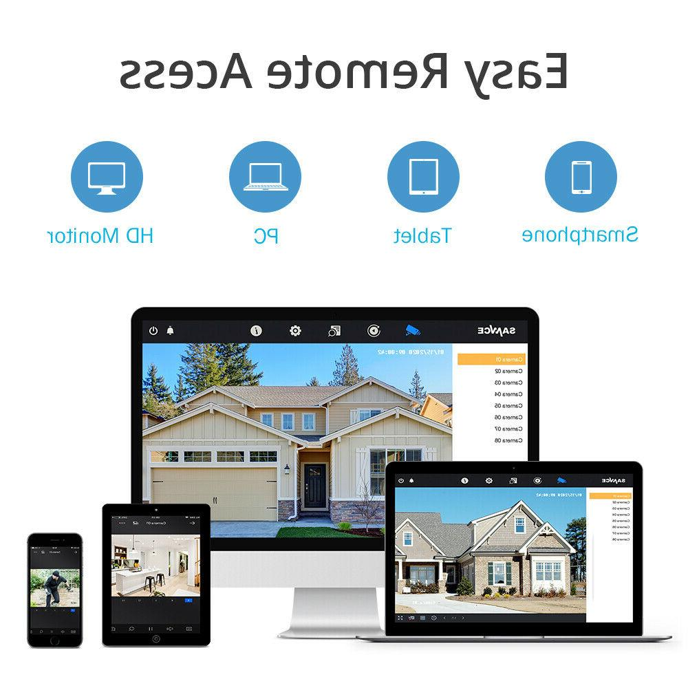 SANNCE 8CH 1080P HDMI CCTV Video Home Security Camera NO