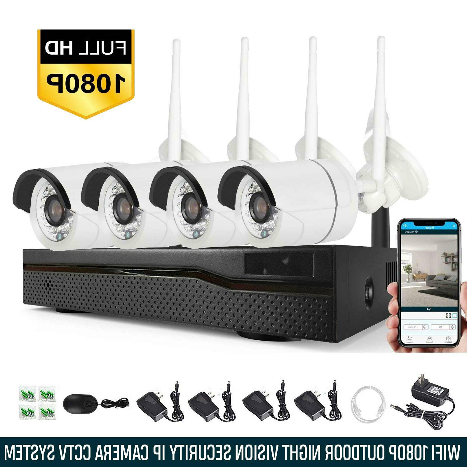 4ch 1080p wireless wifi camera nvr security