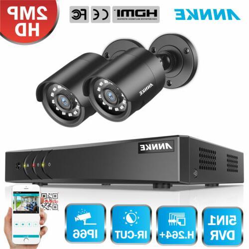 ANNKE 4CH 1080P Lite DVR HD 2MP CCTV Home Security Camera Sy
