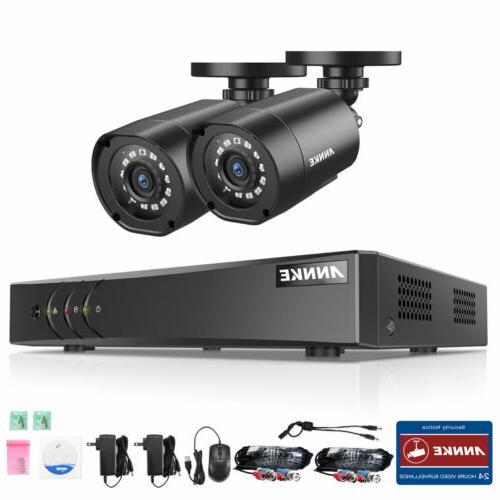 ANNKE 5in1 DVR 1080P Security Camera System Alerts 1TB