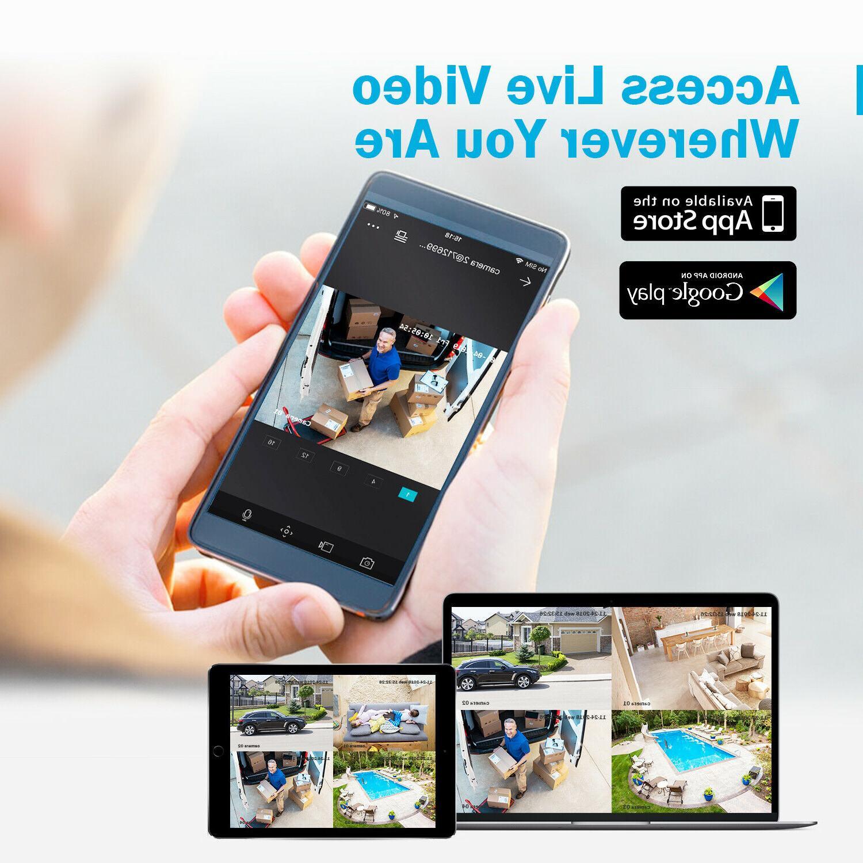 ANNKE 8CH DVR 8x Outdoor Security Camera IR Night 1TB