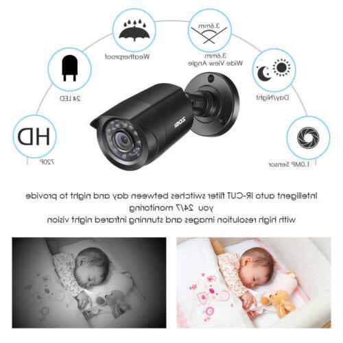 ZOSI 1080p Camera System 8CH 5MP Remote