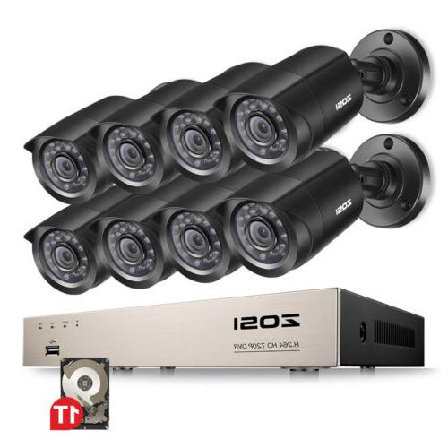 ZOSI 1080P DVR Security 2TB