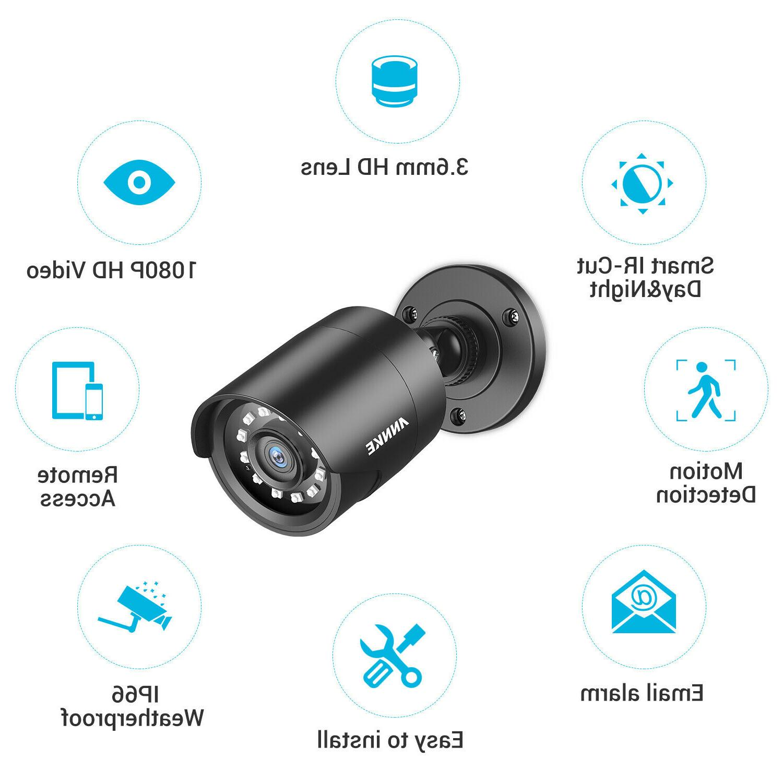ANNKE 8CH 1080P DVR 2MP Outdoor Camera