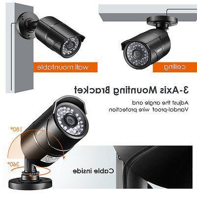 ZOSI 8CH DVR Outdoor CCTV Security Cameras System Kit