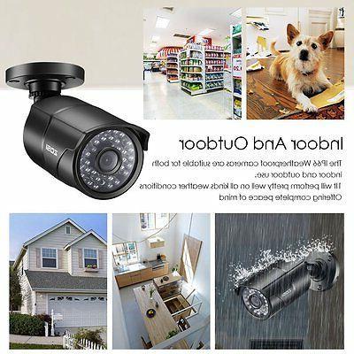 ZOSI 8CH DVR Outdoor CCTV Home System Kit