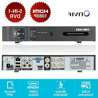 OWSOO 4CH Channel DVR 1080P Recorder Security System