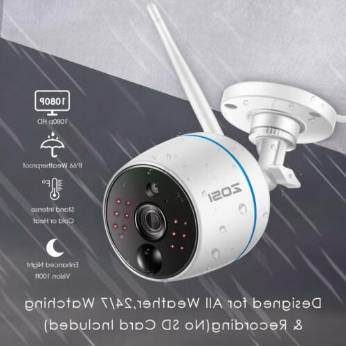 ZOSI WiFi Outdoor Home Security Wireless with 4