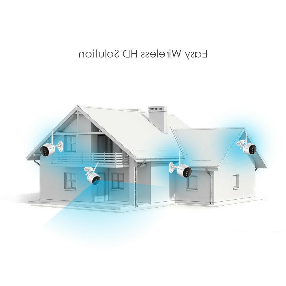 ZOSI 4CH NVR HD 2MP Outdoor WiFi Wireless