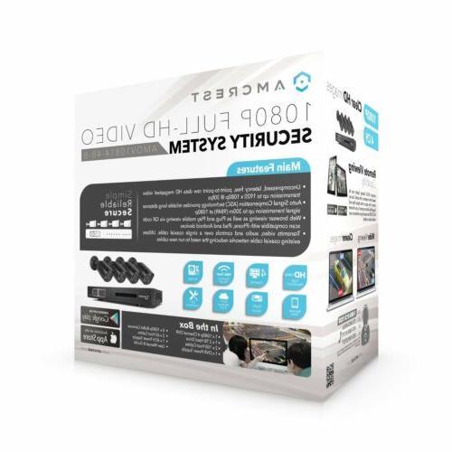 4Ch HDCVI/IP DVR Kit w/ 4 Bullet &