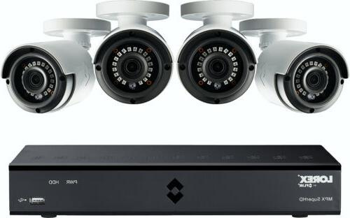 4mp super hd 4 channel security system