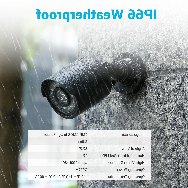 ANNKE 4pcs 1080P Security Camera IR Night Vision