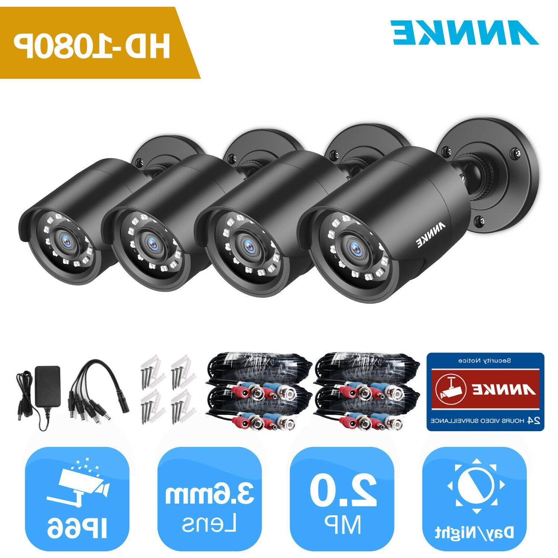 4pcs 720p 1500tvl tvi outdoor ir camera