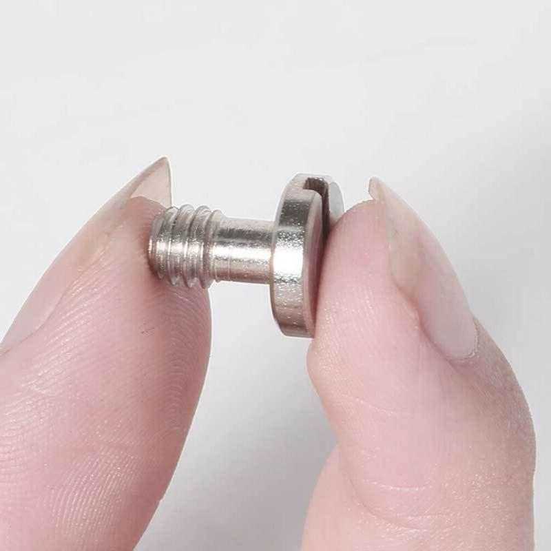 4pcs Camera Screw Flat Head 3/8 Inch Iron for