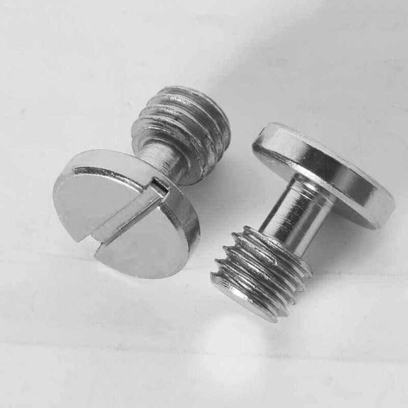4pcs camera screw silver flat head 3
