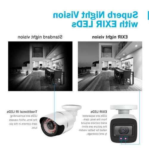 8CH 4K Security Camera System CCTV Night Onvif