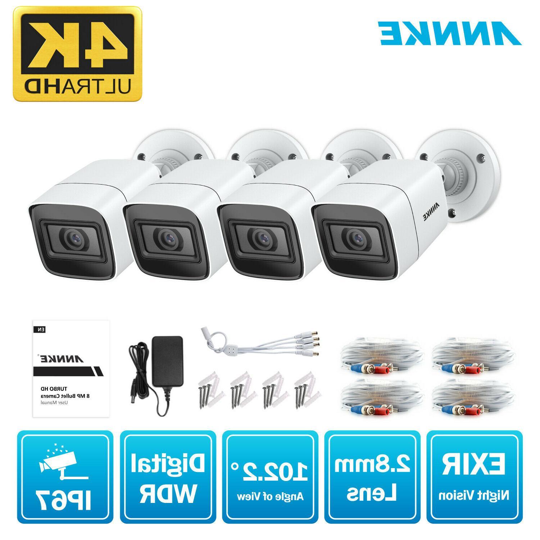 4x ultra hd 8mp 4k security camera