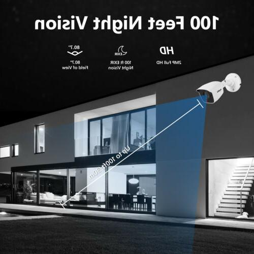 SANNCE H.264+ 5in1 8CH DVR Outdoor Video CCTV Camera System