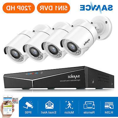 SANNCE 8CH 1080P Security Camera System Night Vision