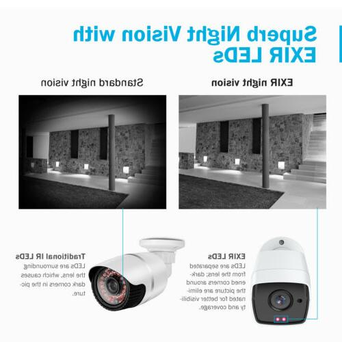 ANNKE H.265+ 5in1 Ultra HD 4K DVR 5MP Security Camera System IR