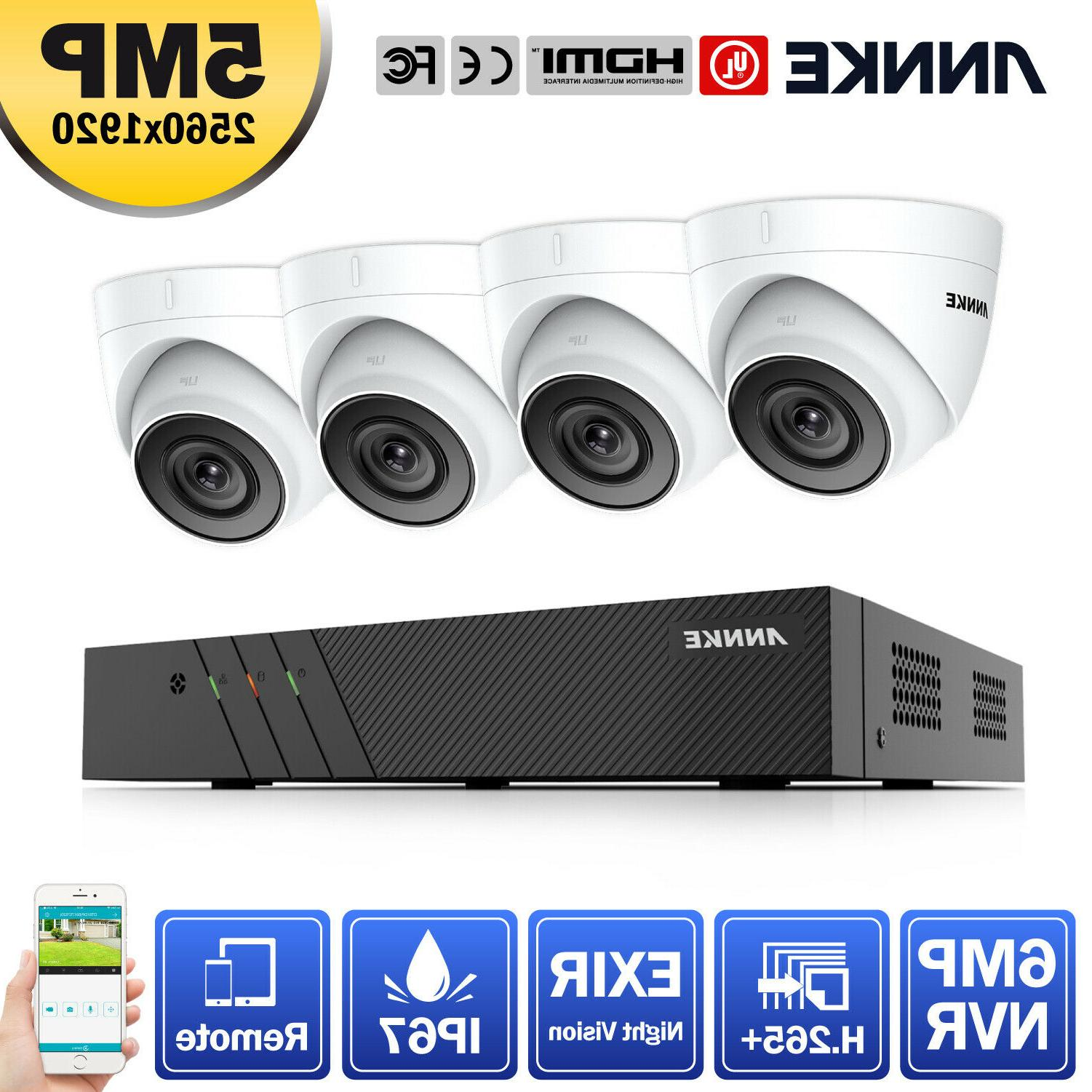 ANNKE 8CH 6MP NVR Hikvision OEM POE Outdoor 5MP Home Securit