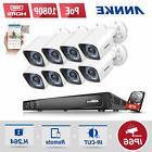 ANNKE 1080P POE 8CH / 4CH 6MP DVR Outdoor IP Bullet CCTV Sec