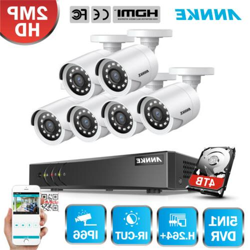 6x security cameras 8ch cctv dvr home