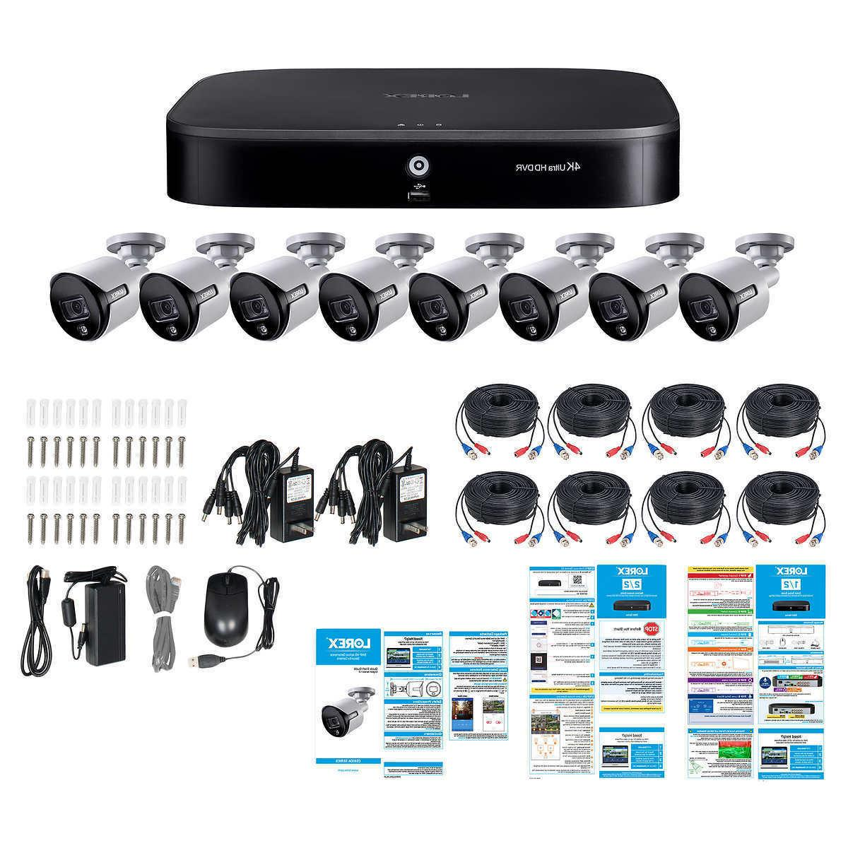 Lorex 8 5MP Deterrence Cameras Channel 4K 2TB HDD Security System
