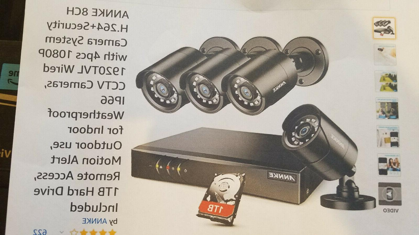 annke 8 h.264 security camera 4 pcs 1080p cctv cameras