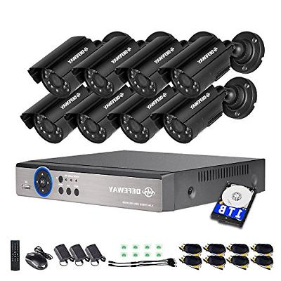 DEFEWAY 8 Channel Security Cameras System 1080N AHD Supports