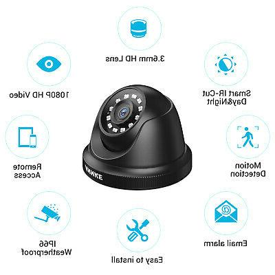 ANNKE 16CH H.264+ DVR 2MP Outdoor Security System Email Alert