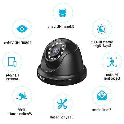 ANNKE 8CH DVR 2MP HD CCTV Smart Security IR Camera System APP