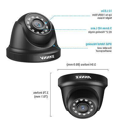 ANNKE 1080P DVR HD CCTV Smart Outdoor Security Camera