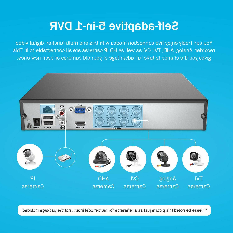 ANNKE 1080P DVR 8x CCTV Outdoor Security System IR Night 1TB