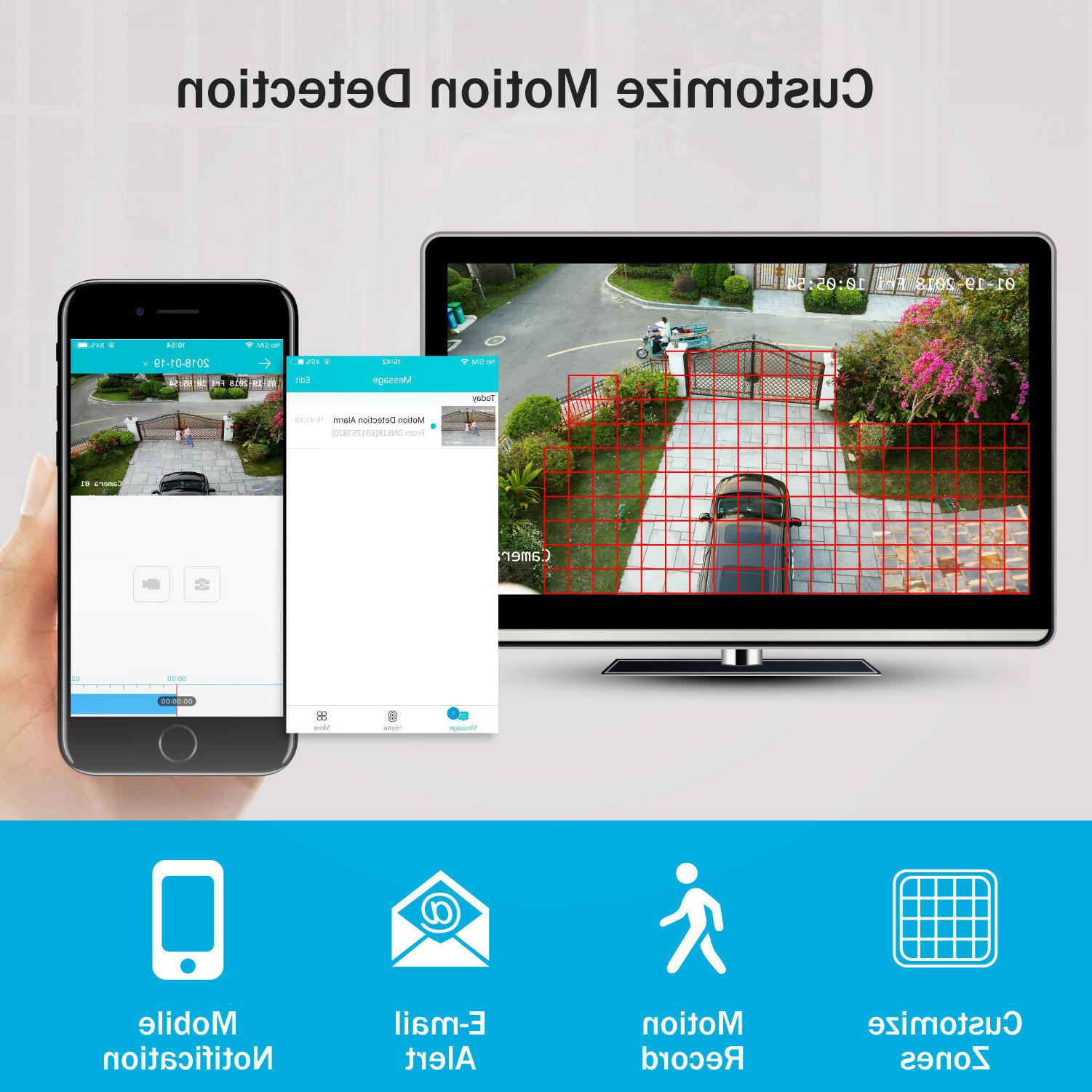 ANNKE 1080P Camera System Email Alerts Outdoor 1TB