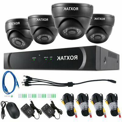 HD 1080P 8CH DVR IR CUT CCTV Security Camera System KIT Home