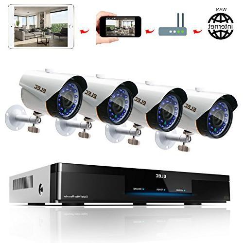 8ch 4cam 1800tvl home security