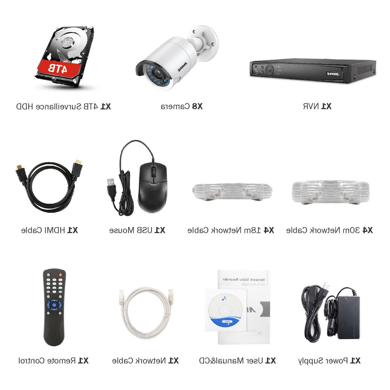 ANNKE NVR POE HD Outdoor Network CCTV Security