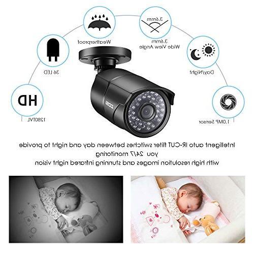 ZOSI Lite System,4 in Indoor/Outdoor Weatherproof Cameras