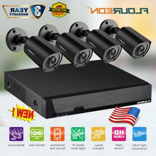 8ch dvr 3000tvl 1080p outdoor home surveillance