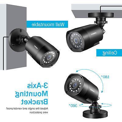 ANNKE 5in1 1080P Lite 2MP TVI Home Cameras 2TB