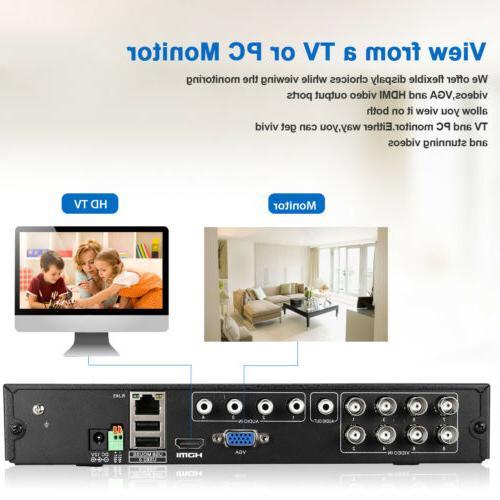8CH 1080P DVR Security Camera System CCTV Video Surveillance Kit