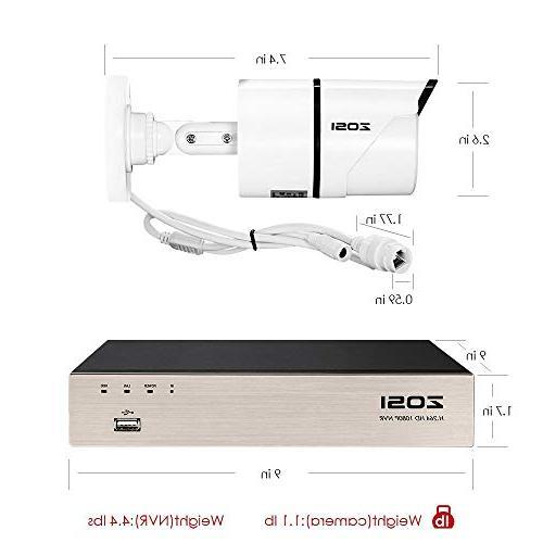 PoE System,8CH 1080P Surveillance 8x2.0 Megapixel Outdoor Indoor Night Hard Ethernet