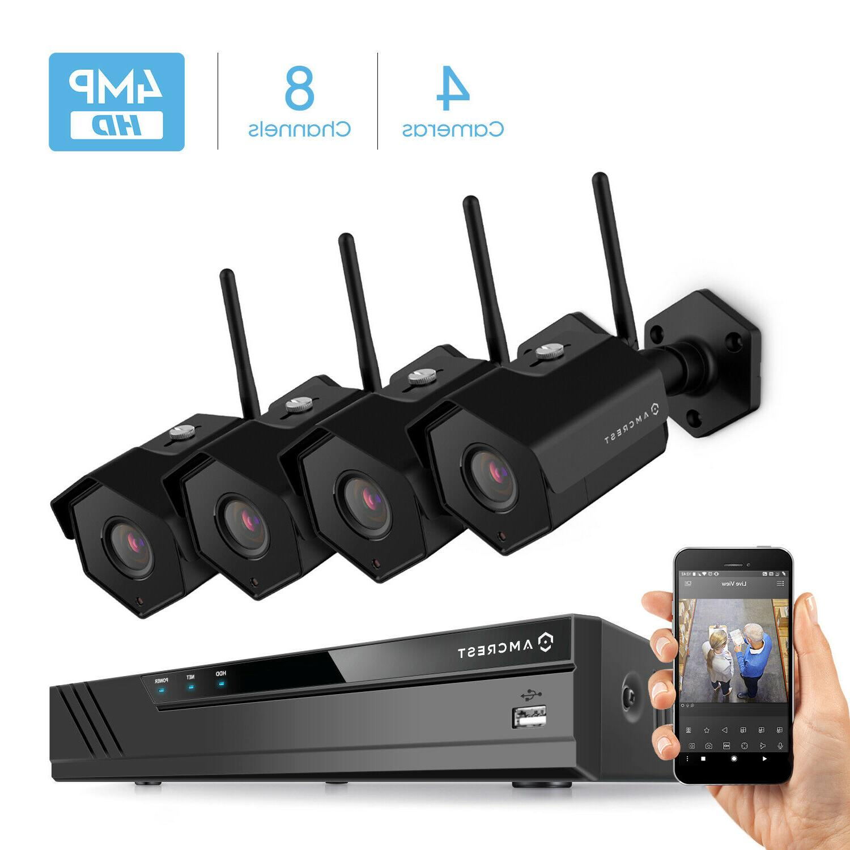 Amcrest Camera System, 4K NVR, 4-Megapixel IP67 Cameras, Angle Hard NV4108-HS-IP4M-1026B4